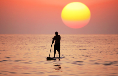 solo sunset sup