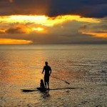 sunset sup couple