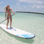 sup girl in clear water